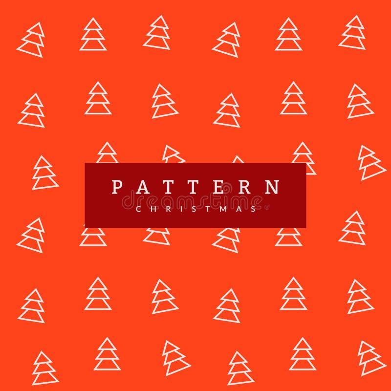 Árboles de navidad inconsútiles del modelo en fondo anaranjado brillante libre illustration