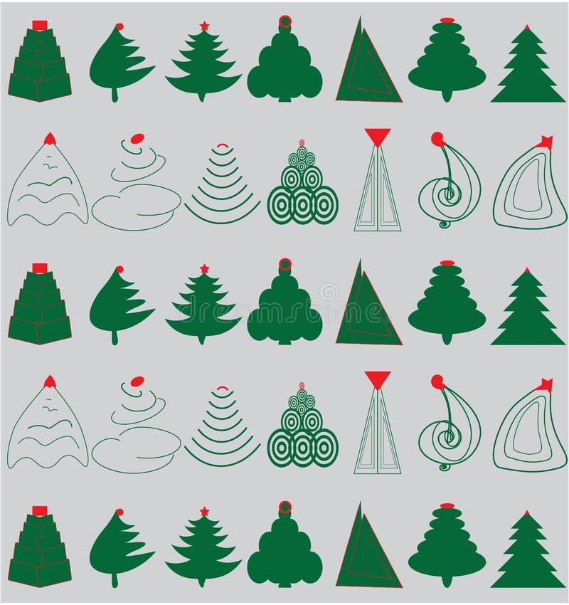 Árboles de navidad verdes libre illustration