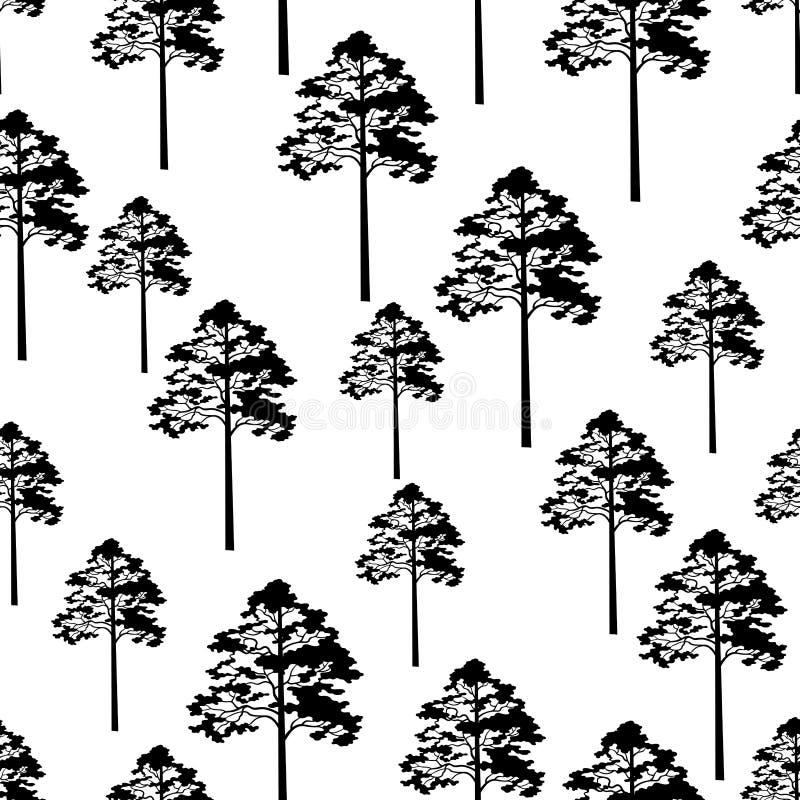 Árboles de pino inconsútiles libre illustration