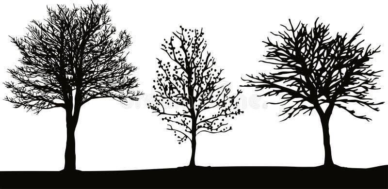 Árboles del invierno ilustración del vector