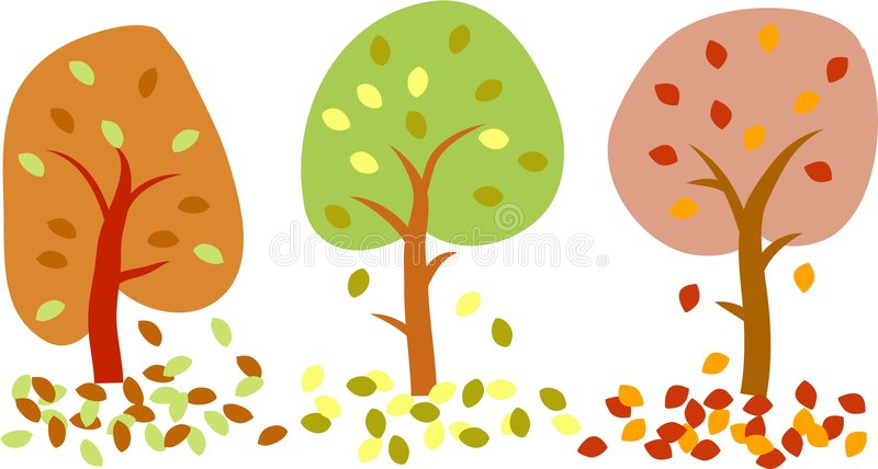 Árboles del otoño ilustración del vector