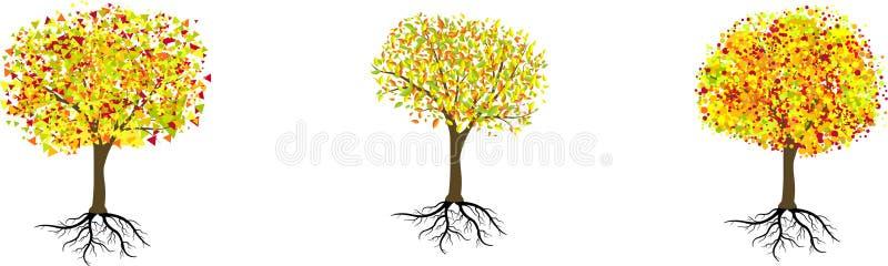 Árboles del otoño stock de ilustración