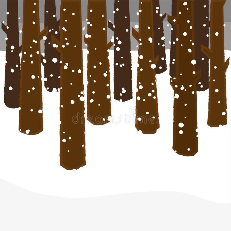 Árboles en invierno libre illustration