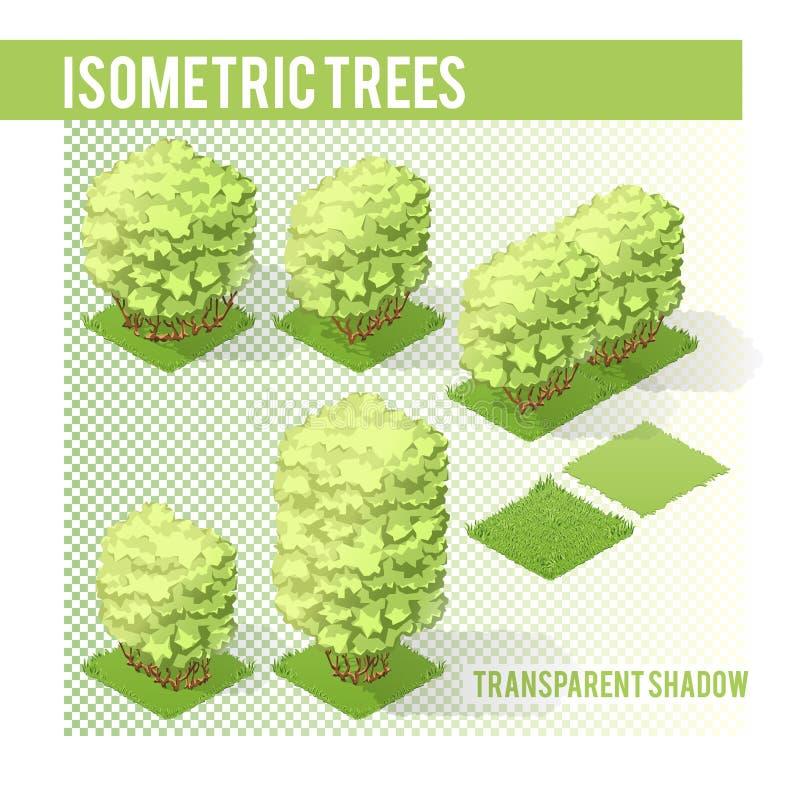 Árboles isométricos 003 ilustración del vector