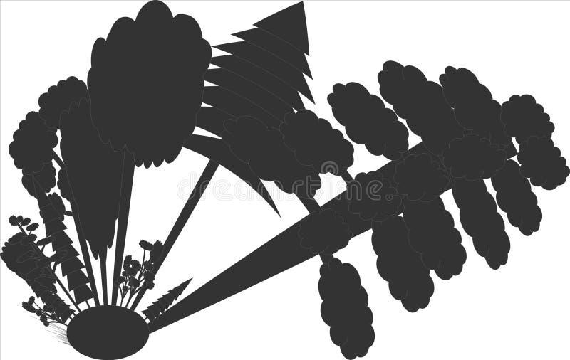 Árboles redondos en un bosque foto de archivo libre de regalías