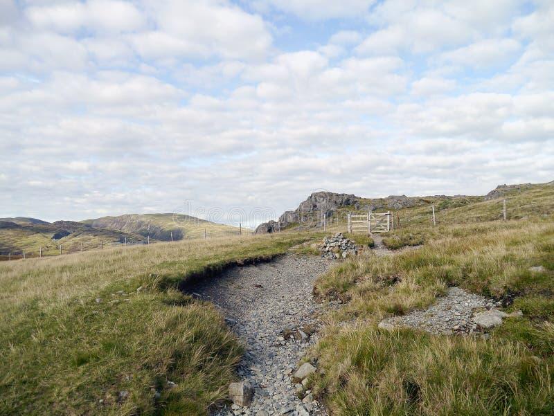 Área acima do sótão Beck, própria do platô acima do vale de Ennerdale fotos de stock royalty free