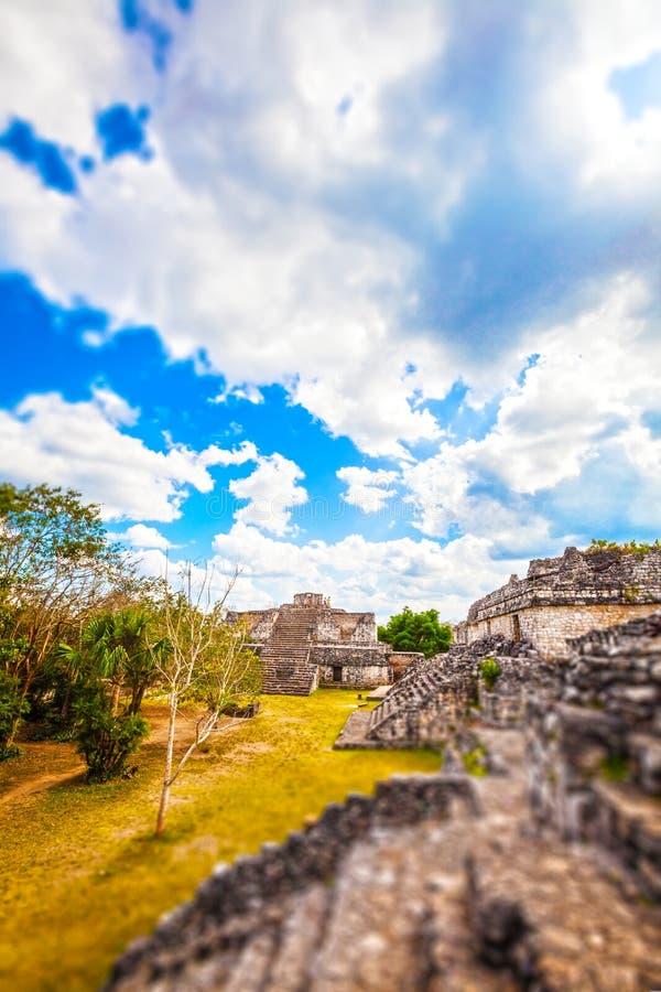 Área arqueológico de Ek-Balam, Iucatão, México imagens de stock