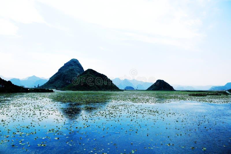 Área cênico de Puzhihe, um landform típico do cársico fotos de stock royalty free