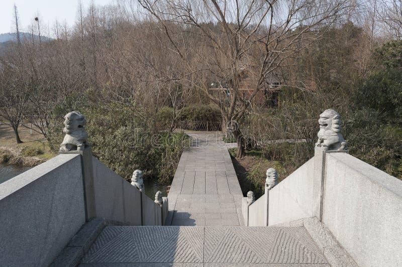 Área cênico do lago ocidental Hangzhou imagem de stock