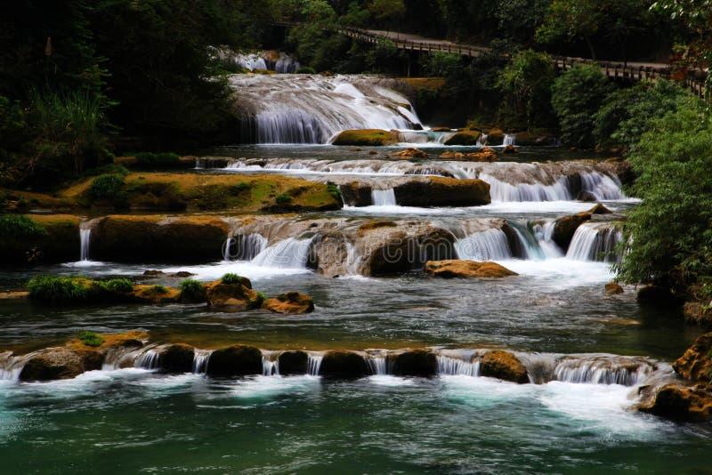 Área cênico do xiaoqikong de Guizhou Libo fotos de stock