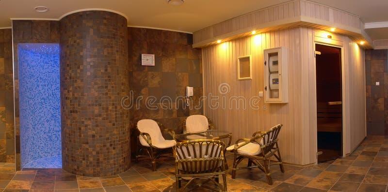 Área cómoda del salón foto de archivo