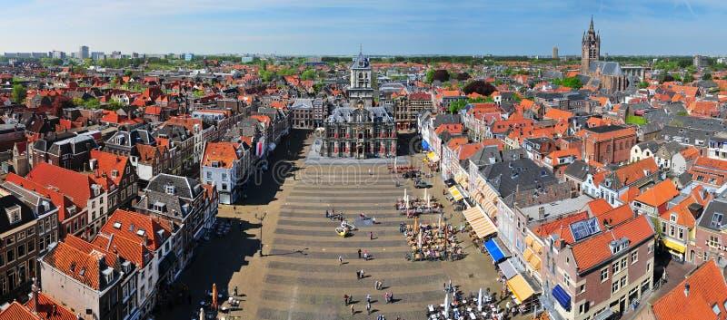 Área central de Delft fotos de stock