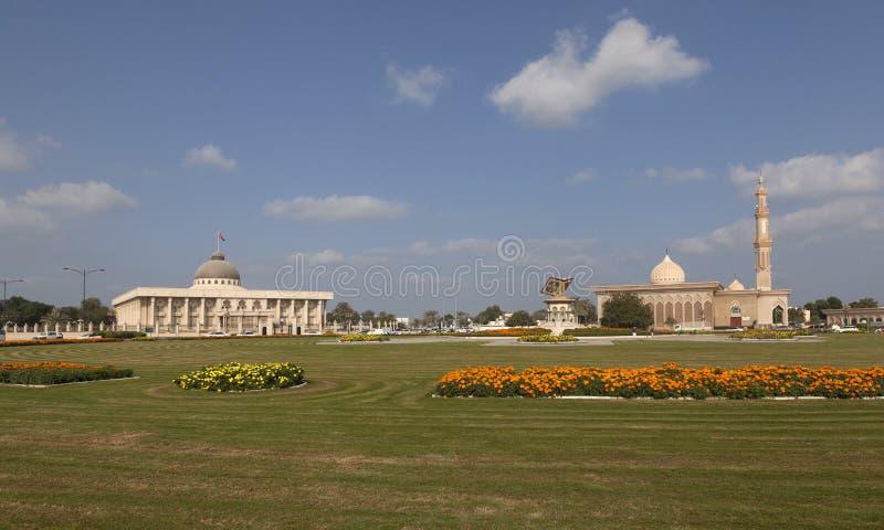 A área central de Sharjah UAE imagens de stock royalty free