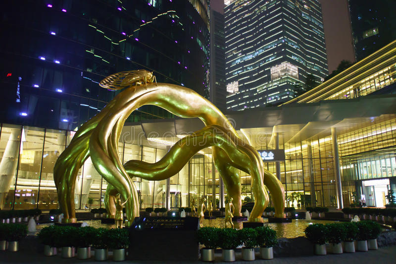 Área cerca del centro de las finanzas internacionales de Guangzhou imagen de archivo