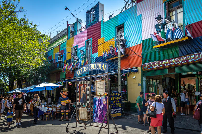 Área colorida de Boca do La - Buenos Aires, Argentina fotografia de stock royalty free