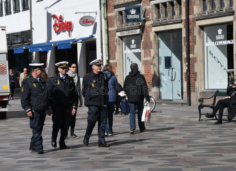 ÁREA COMERCIAL DANESA DE LA POLICÍA PROTRAL fotos de archivo