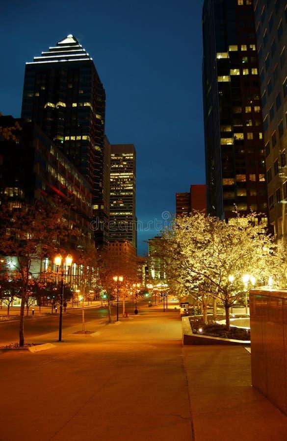 Área comercial de Montreal 5 imagen de archivo libre de regalías