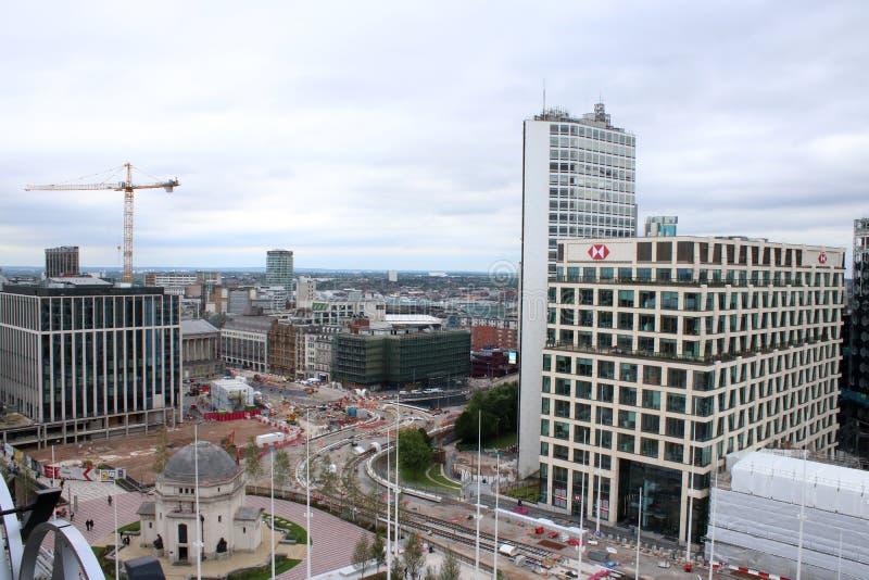 Área cuadrada centenaria Birmingham de la construcción imagenes de archivo