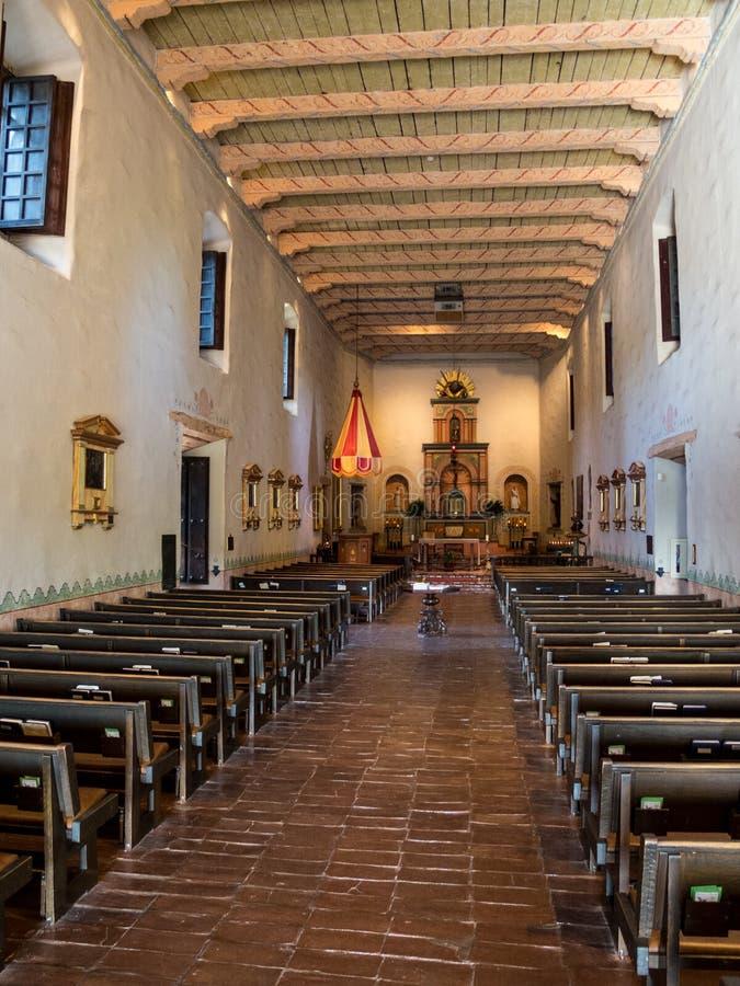 Área da adoração no ¡ de San Diego de Alcalà da missão fotografia de stock royalty free
