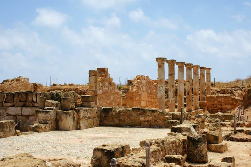 Área da arqueologia perto de Paphos - Chipre fotos de stock royalty free