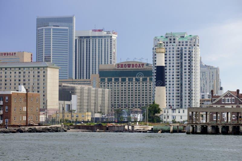 Área da entrada de Atlantic City, New-jersey fotografia de stock