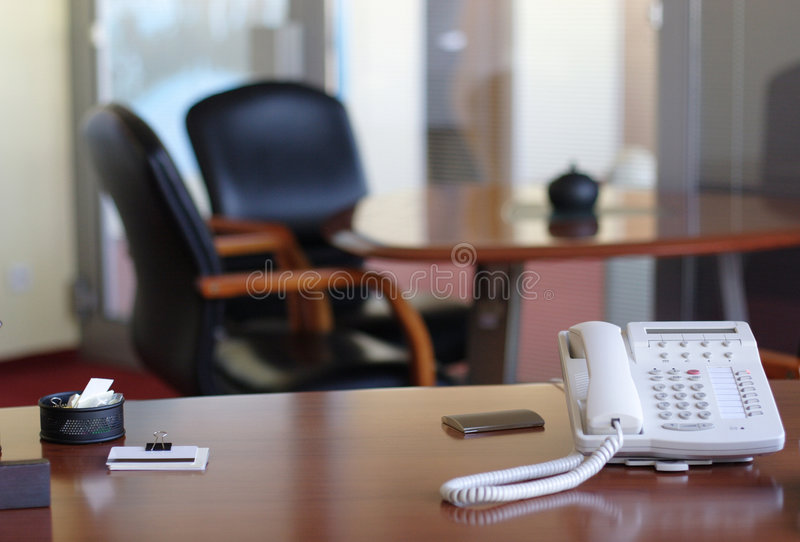 Área da mesa de recepção fotografia de stock royalty free