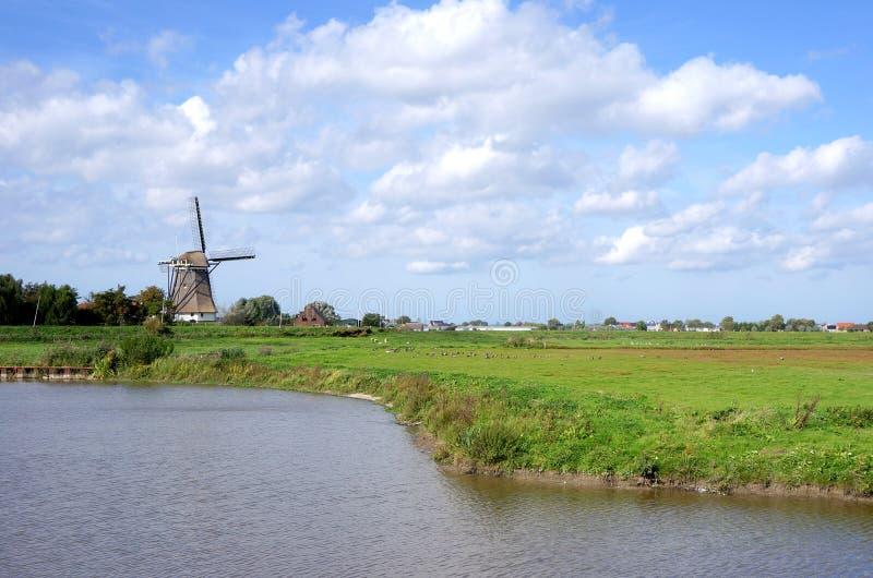 Área da natureza de Groenzoom perto de Pijnacker, os Países Baixos foto de stock
