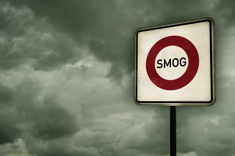 Área da poluição atmosférica imagens de stock
