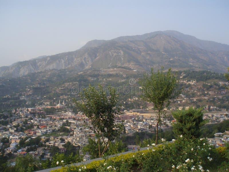 Área da residência da montanha da paz no mundo fotografia de stock royalty free