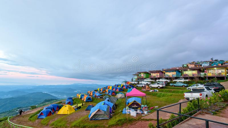 Área de acampamento de Phu Thap Berk fotos de stock royalty free