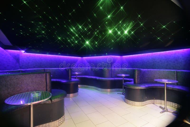 Área de assento do clube de noite imagem de stock royalty free