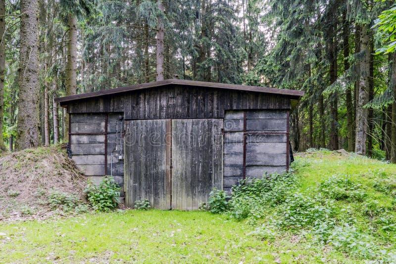Área de caça das florestas na vila do mezirici de Velke no imagem de stock royalty free