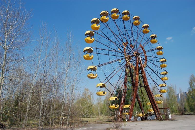 Área de Chernobyl. Ciudad perdida Pripyat. fotos de archivo