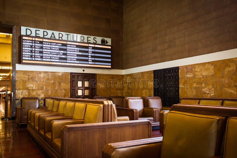 Área de espera da estação da união de Los Angeles imagem de stock