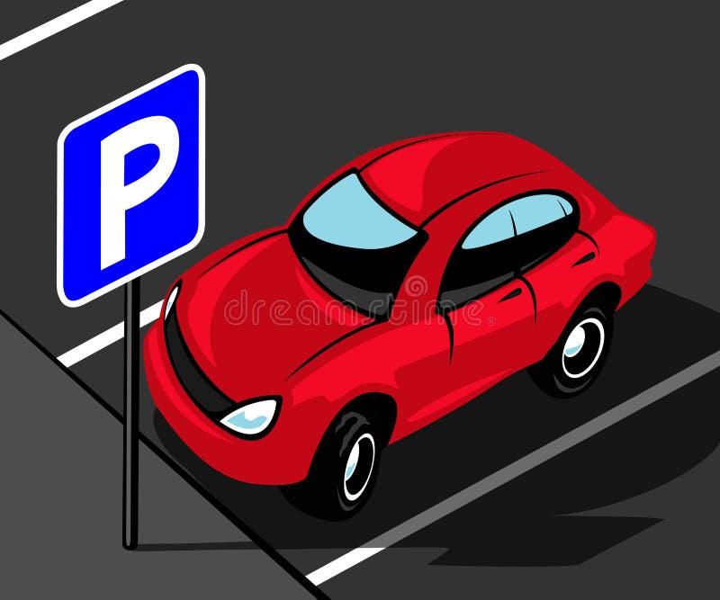 Área de estacionamento ilustração royalty free