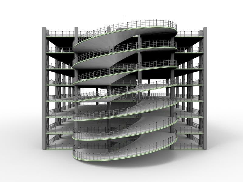 Área de estacionamento moderna vazia ilustração royalty free