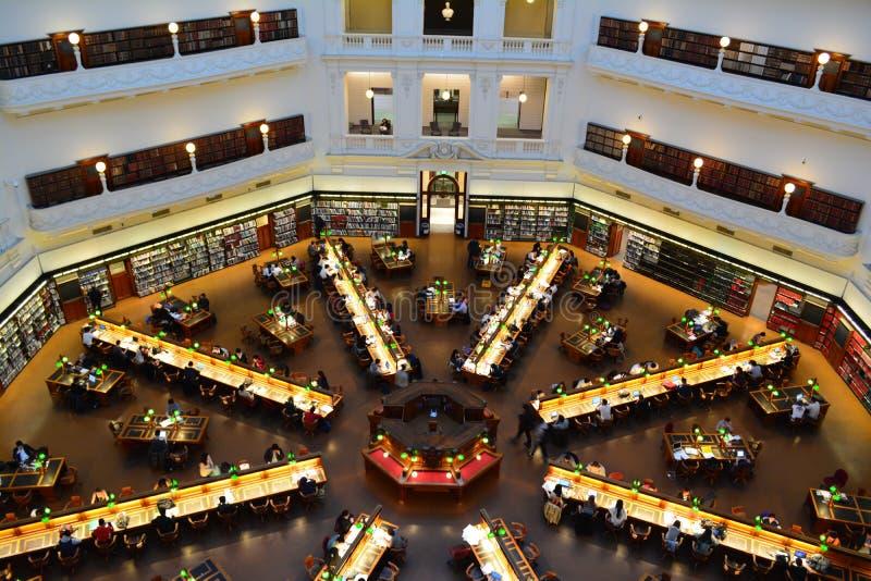 Área de estudo da biblioteca fotografia de stock royalty free