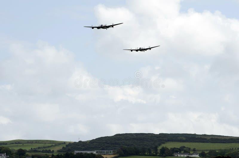 Área de exposição do aproach dos bombardeiros de Lancaster imagens de stock