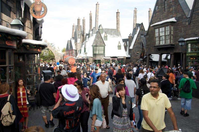 Área de Harry Potter em estúdios universais Orlando fotografia de stock