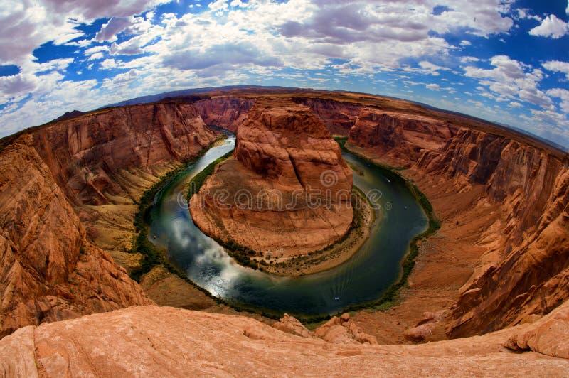 Área de herradura de la curva de la paginación de Arizona foto de archivo