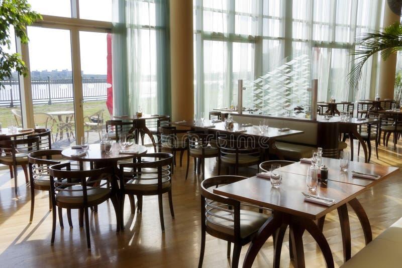 Área de jantar do restaurante fotos de stock