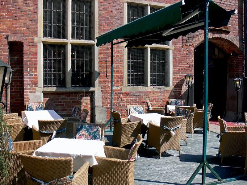 Área de jantar exterior foto de stock royalty free