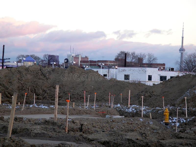 Área de la construcción de las nuevas casas de Toronto foto de archivo libre de regalías