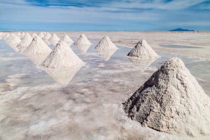 Área de la extracción de la sal fotos de archivo