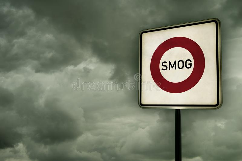 Área de la niebla con humo imagenes de archivo