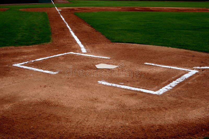 Área de la pista de aterrizaje del béisbol fotografía de archivo libre de regalías