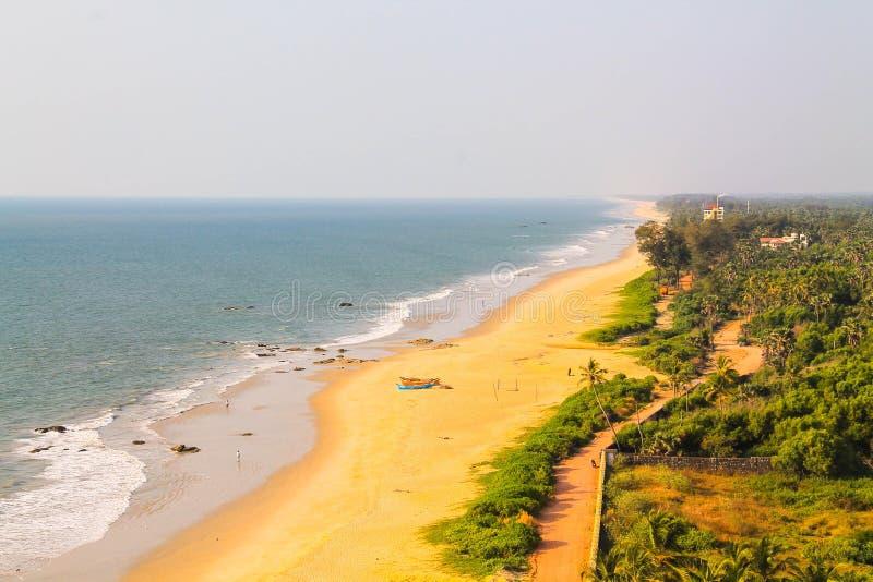 Área de la playa del kundapur de Mangalore imágenes de archivo libres de regalías