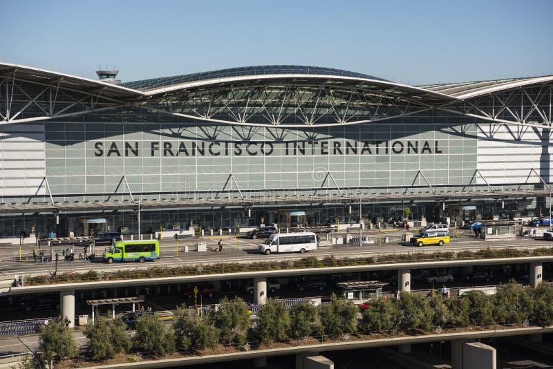 Área de la salida de San Francisco International Airport imágenes de archivo libres de regalías