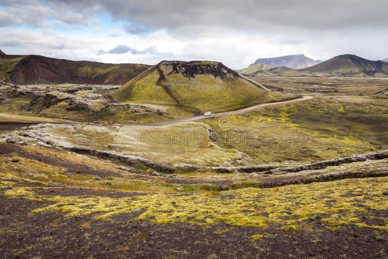 Área de Landmannalaugar, Islandia del sur fotografía de archivo