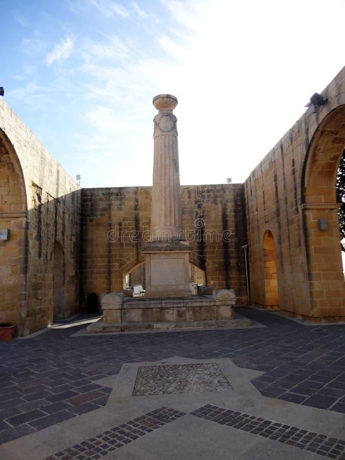 Área de los jardines superiores de Barrakka, La Valeta, Malta de la terraza imagen de archivo libre de regalías